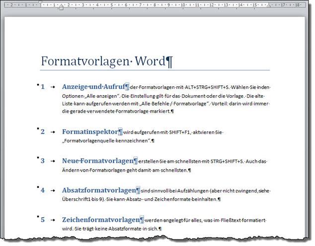 hängend formatieren word